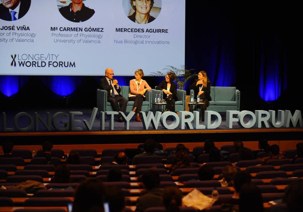 Conferencia de Mercedes Aguirre en el X Longevity World Forum